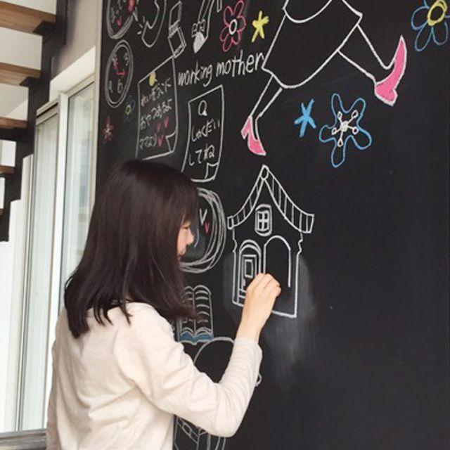 玄関 インテリア 大きな黒板