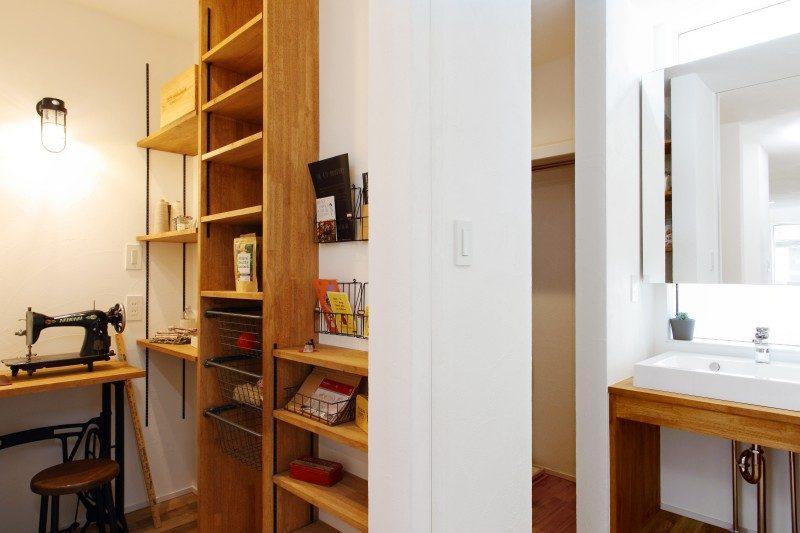 注文住宅 ママらくだ 趣味の部屋 手芸 収納棚