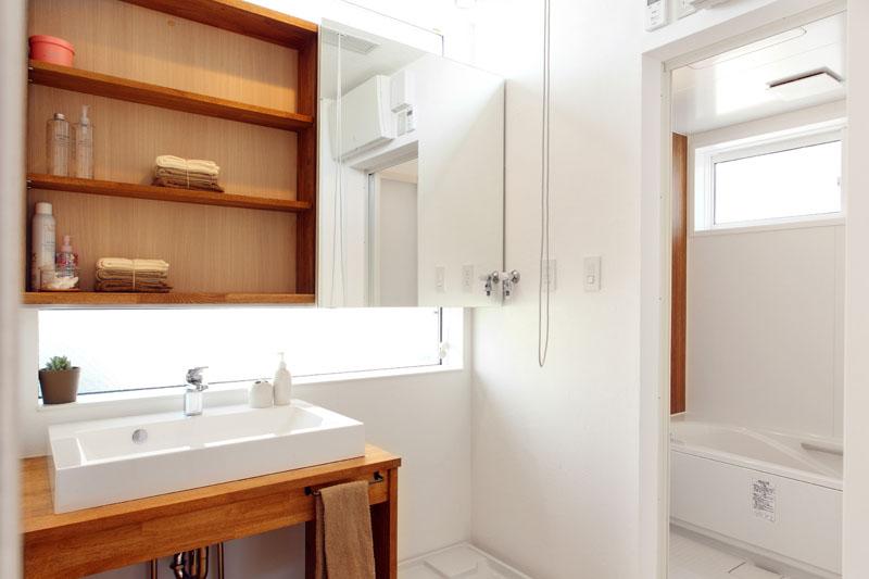 注文住宅 モデルルーム  洗面
