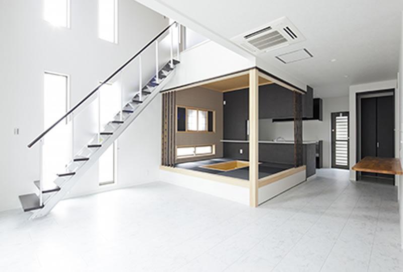 河内長野市 新築 注文住宅 リビング 施工例