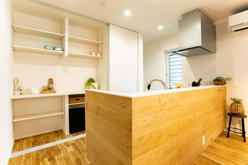 堺市北区 新築 注文住宅 施工例 キッチン 収納