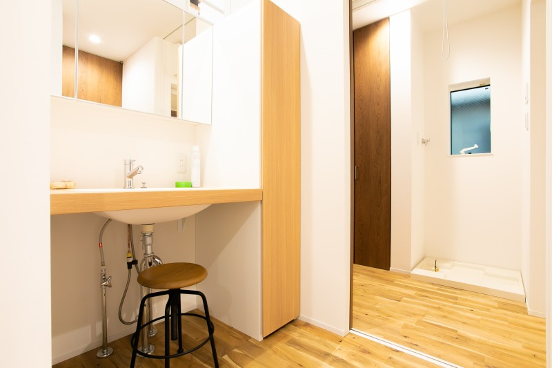 堺市北区 新築 注文住宅 施工例 サニタリー 洗面