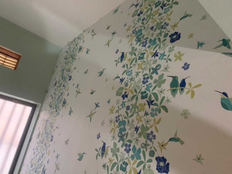 堺市 リノベーション 施工例 トイレ サニタリー 壁紙
