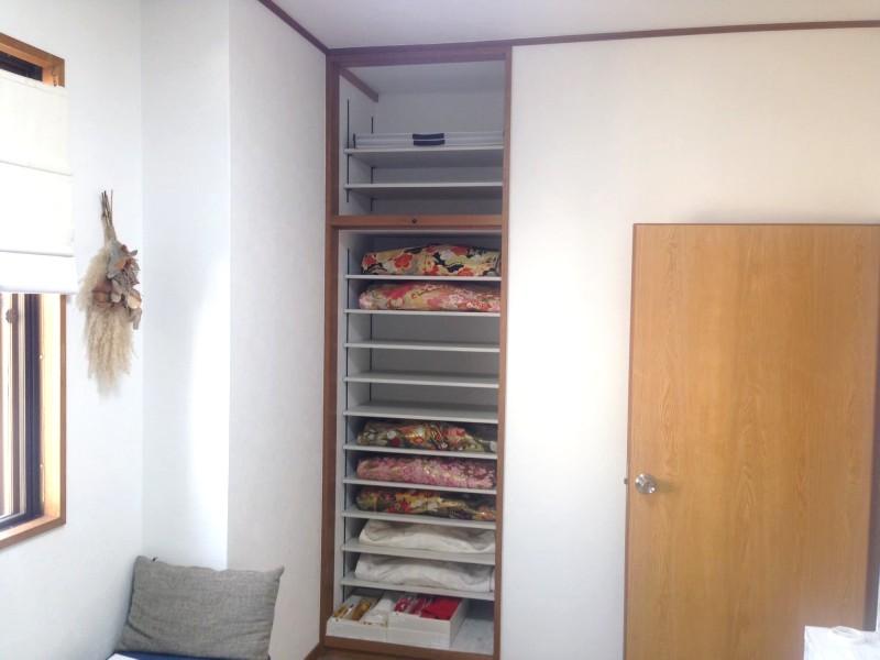 堺市 リノベーション 施工例 メイクルーム着物収納棚