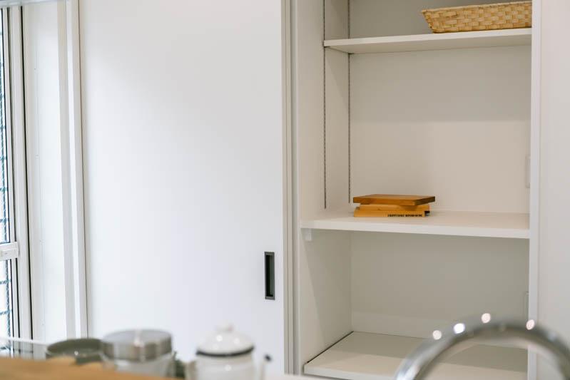 新築注文住宅 堺市西区 お洒落なキッチン収納 カップボード