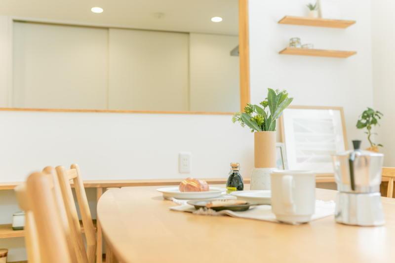 新築注文住宅 堺市北区 キッチンのママと会話