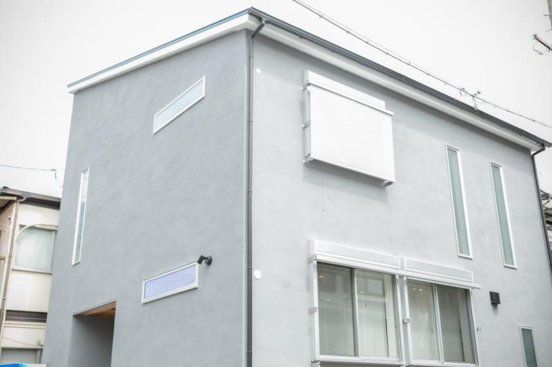新築注文住宅 堺市北区 外観 sto塗り壁