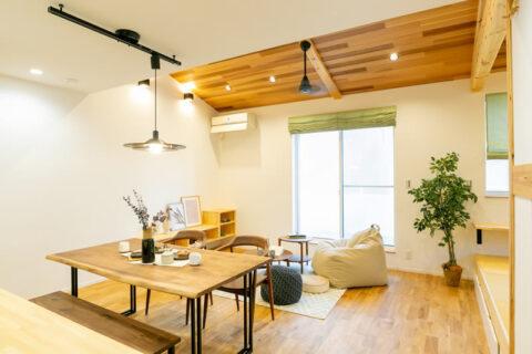 新築注文住宅 解放感のあるリビングダイニング 堺市北区南花田