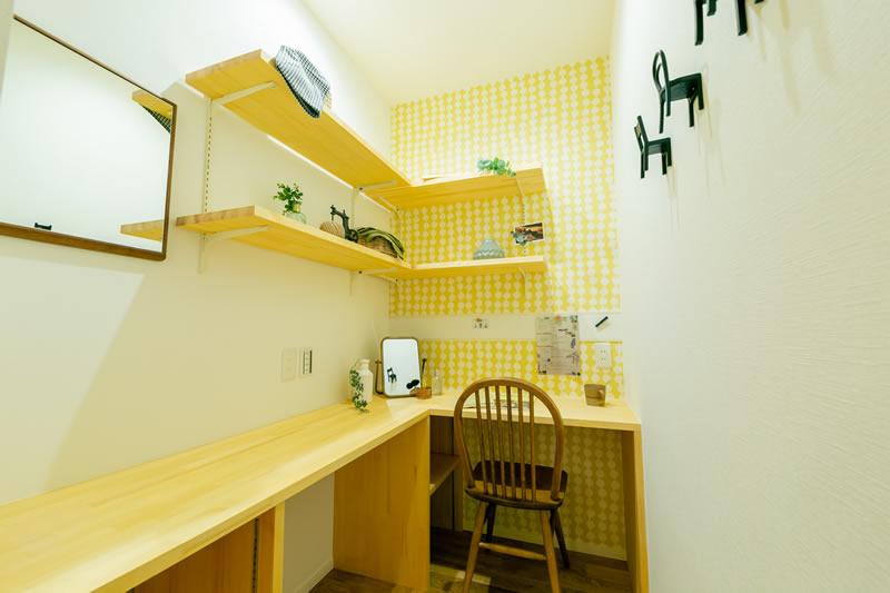 新築注文住宅 おしゃれなママの趣味コーナー 堺市北区南花田