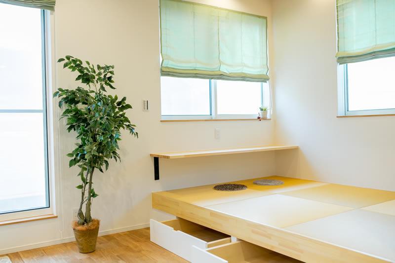 新築注文住宅 タタミコーナーと収納 堺市北区南花田