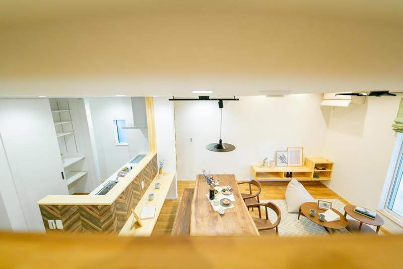 新築注文住宅 ロフトからの眺め 堺市北区南花田