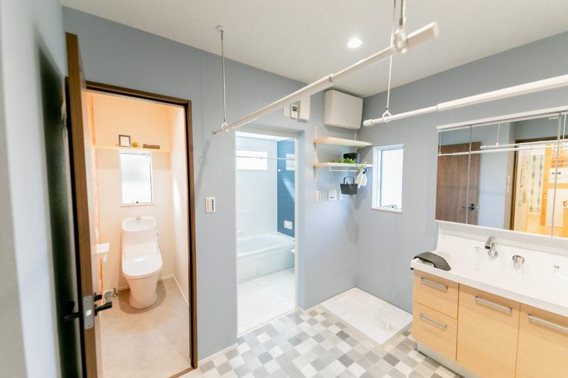 新築 注文住宅 広い洗面所
