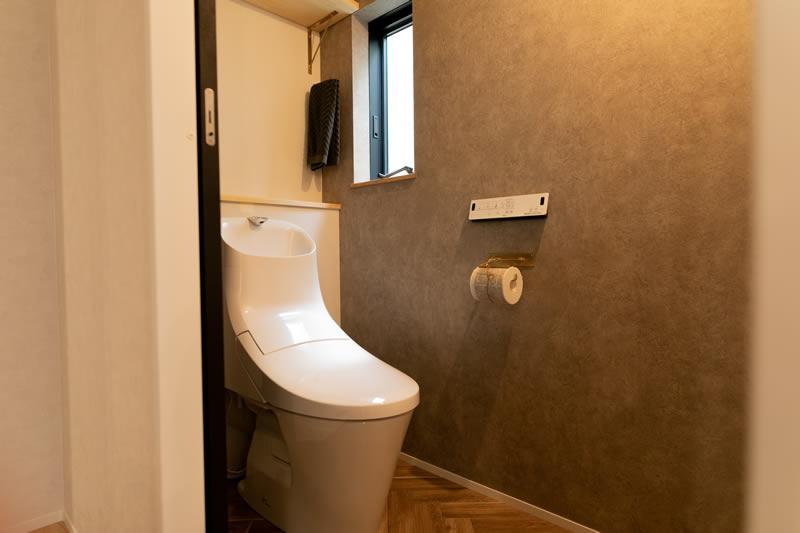 注文住宅 シックでおしゃれなトイレ