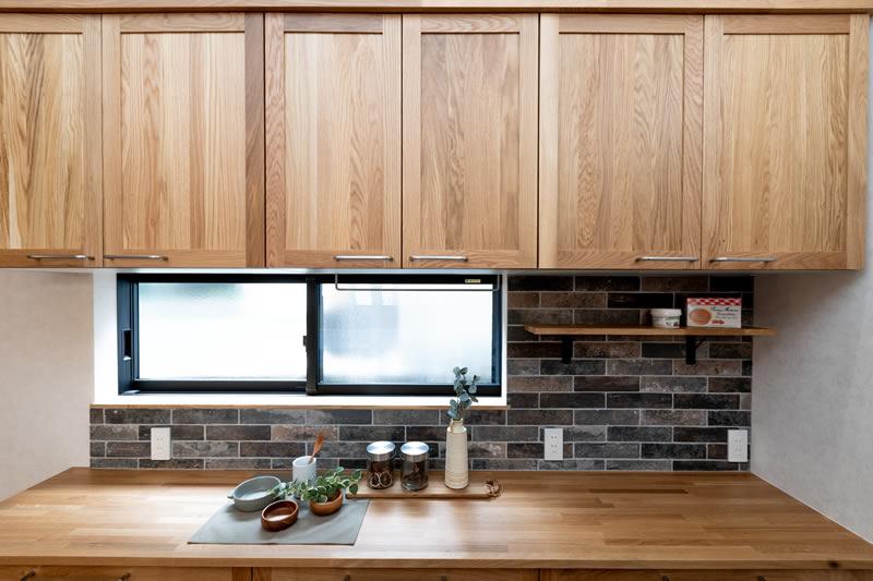 注文住宅 ウッドワンのおしゃれで素敵な無垢の木のキッチン
