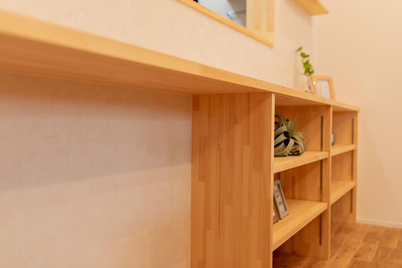 注文住宅 カウンターキッチン 造作棚