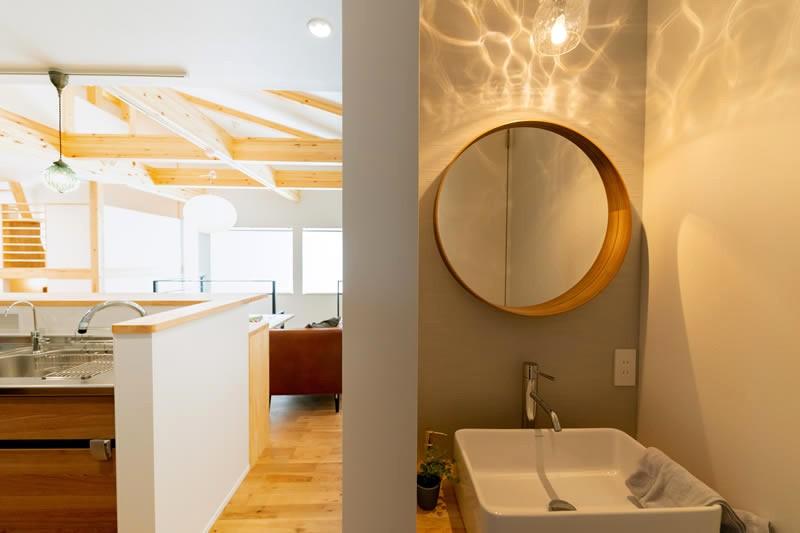堺市北区大豆塚町 新築注文住宅 トイレ用の洗面