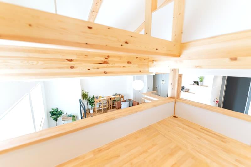 堺市北区大豆塚町 新築注文住宅 中二階からの眺め